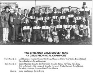 1993-1994 Carlton High School Girls Soccer Team – Team