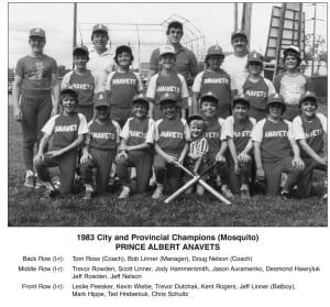 1983-1984 Prince Albert Anavets Mosquito Baseball – Team